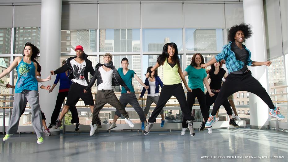 Hip hop adult dance class