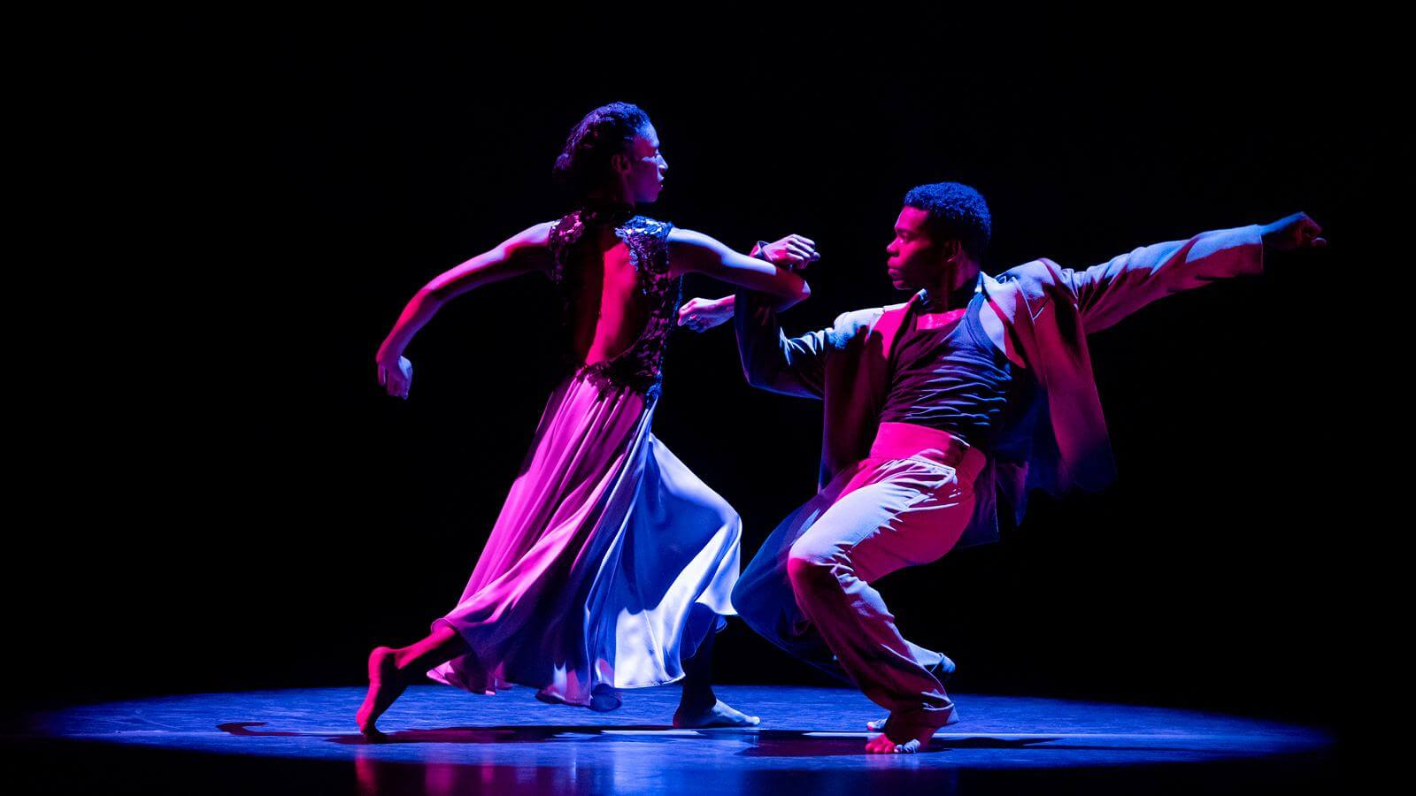 Jacqueline Green and Solomon Dumas in Ronald K. Brown's The Call. Photo by Paul Kolnik