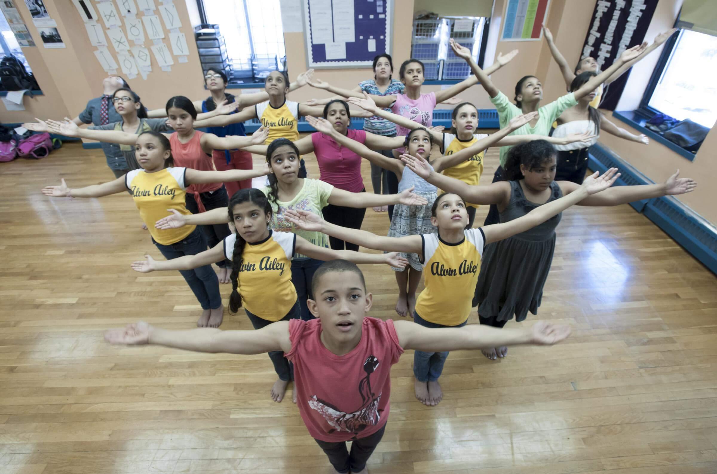 AileyDance Kids at IS 528 in Manhattan, photo by Joe Epstein