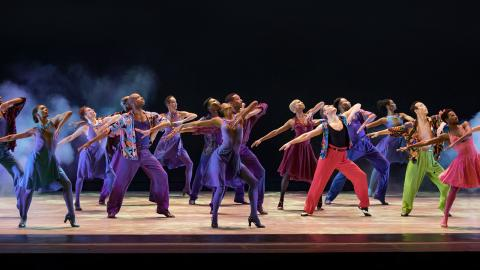 Alvin Ailey American Dance Theater in Billy Wilson's The Winter in Lisbon. Photo by Paul Kolnik
